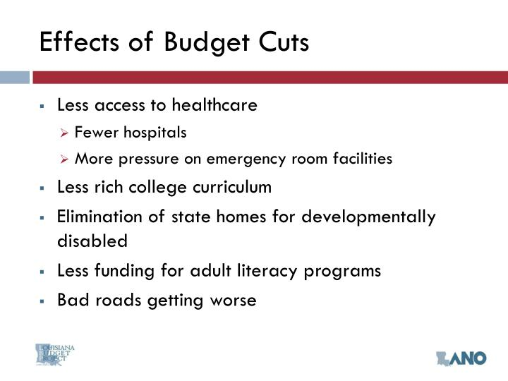 Effects of Budget Cuts