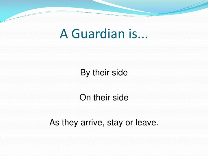 A Guardian is...