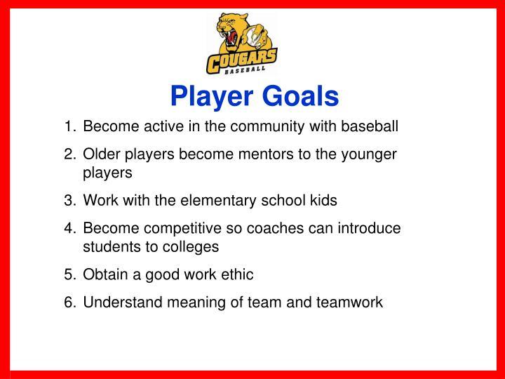 Player Goals