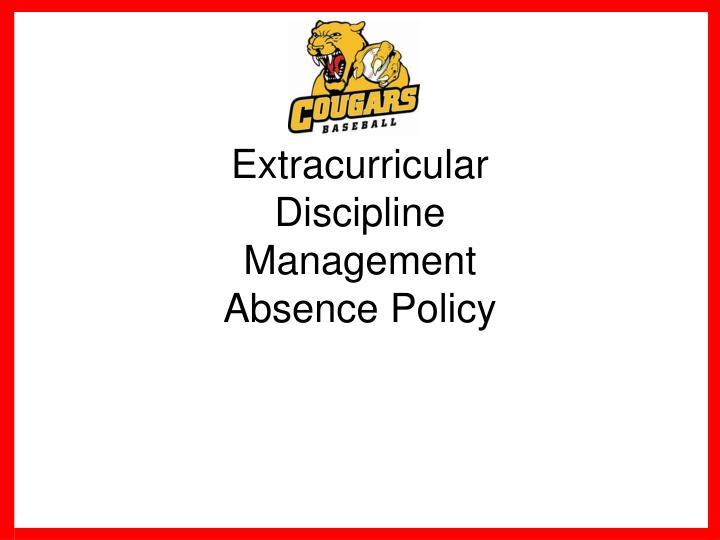 Extracurricular Discipline Management