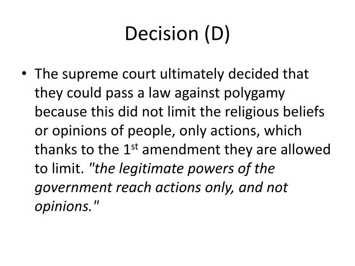 Decision (D)