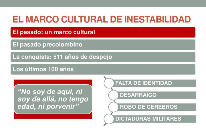 EL MARCO CULTURAL DE INESTABILIDAD