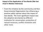 impact of the application of tara bandu like sasi ritual in maluku indonesia