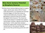 nino konis santana potential as biosphere reserve