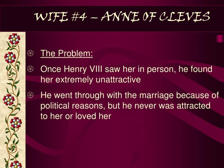 WIFE #4 – ANNE OF CLEVES