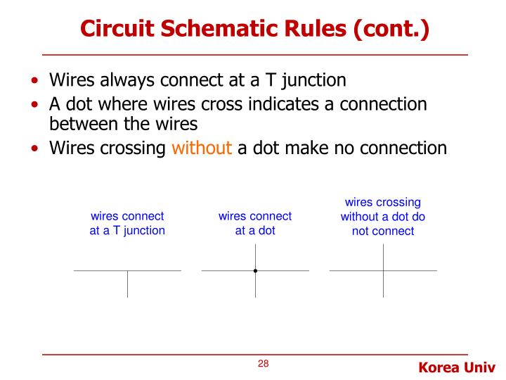 Circuit Schematic Rules (cont.)