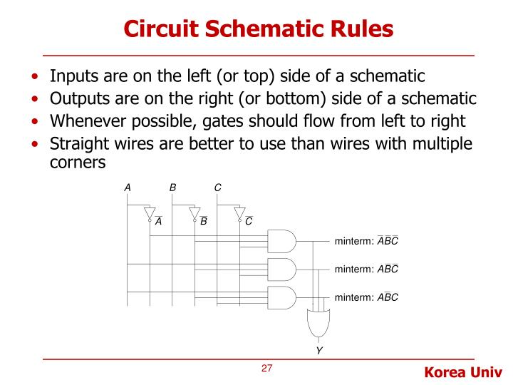 Circuit Schematic Rules
