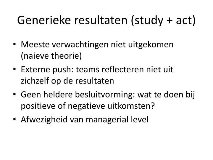 Generieke resultaten (