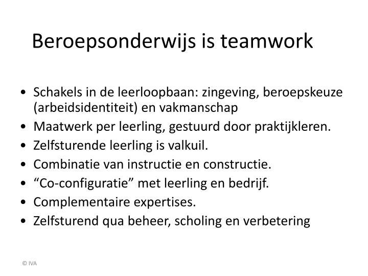 Beroepsonderwijs is teamwork