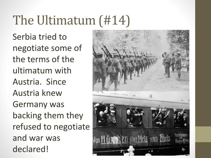 The Ultimatum (#14)