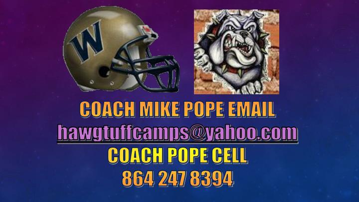 COACH MIKE POPE EMAIL