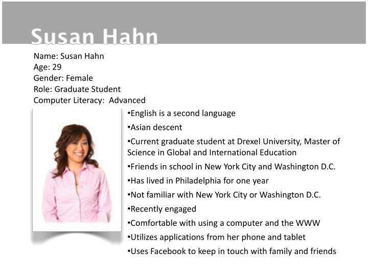 Name: Susan Hahn