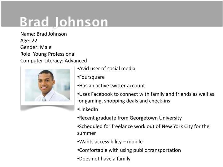 Name: Brad Johnson