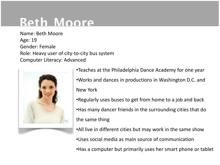 Name: Beth Moore