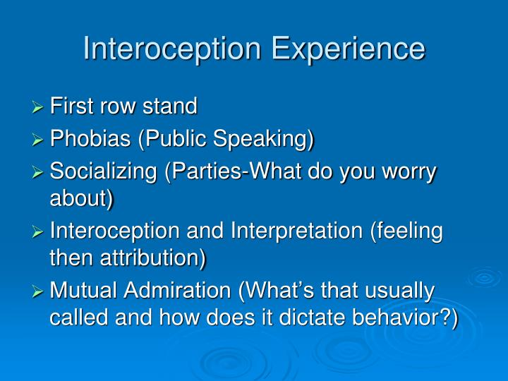 Interoception Experience