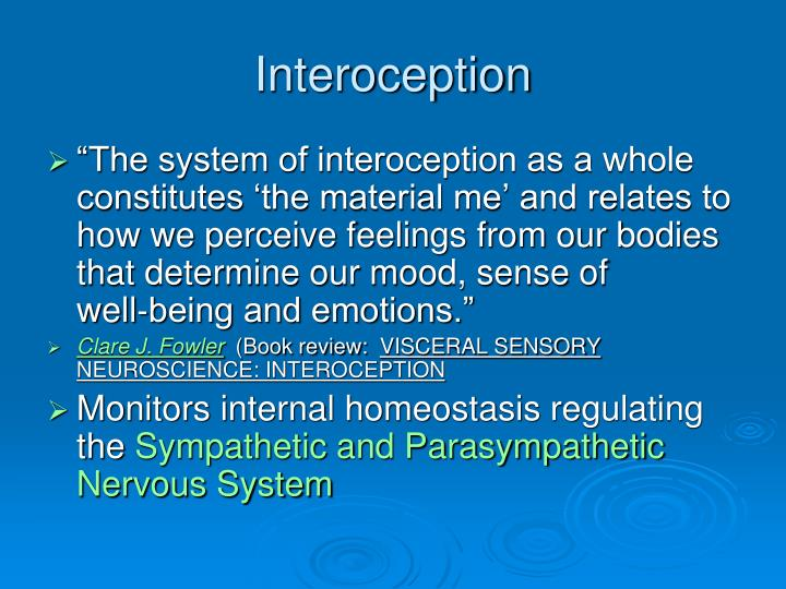 Interoception