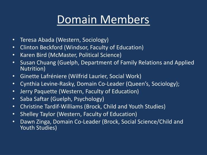 Domain Members