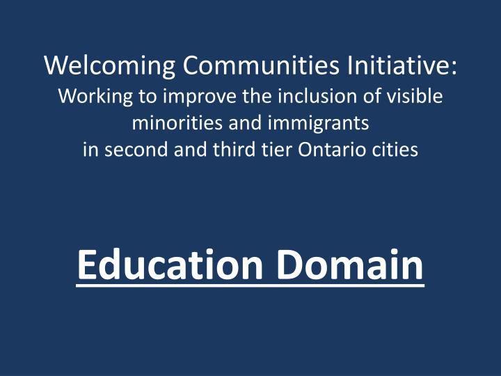 Education domain