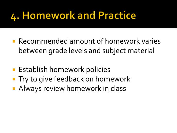 4. Homework and Practice