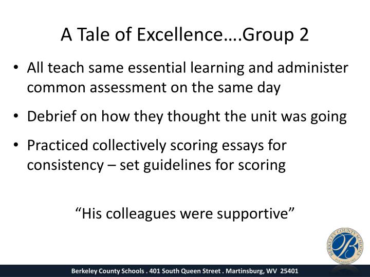 A Tale of Excellence….Group