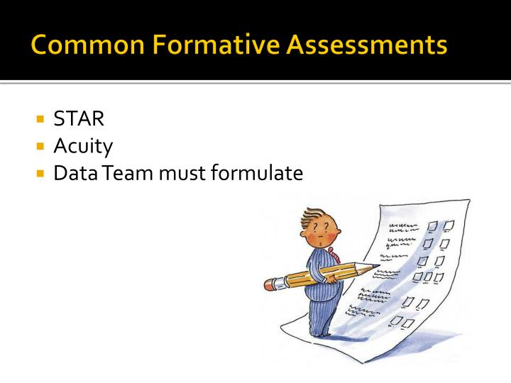 Common Formative Assessments