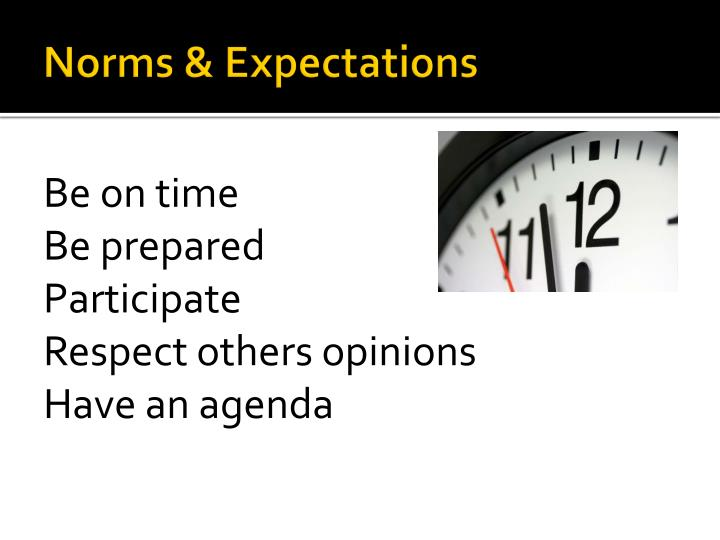Norms & Expectations