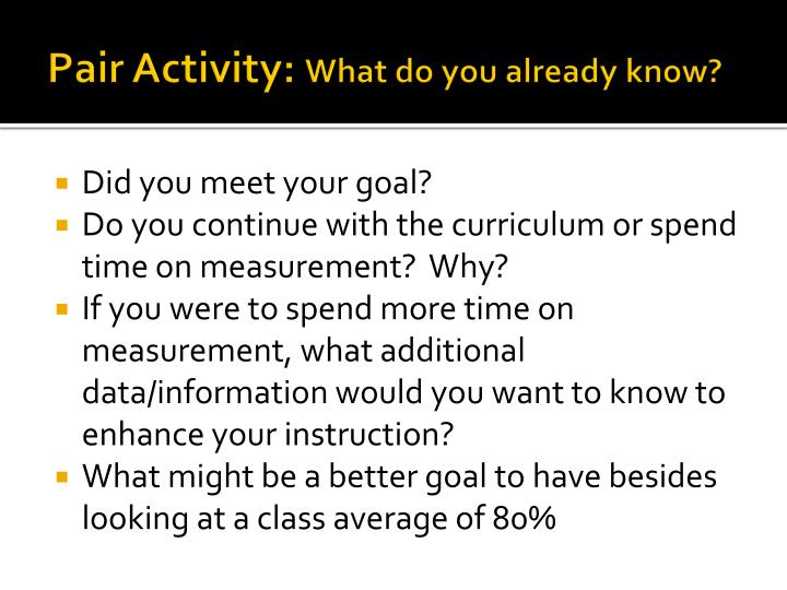 Pair Activity: