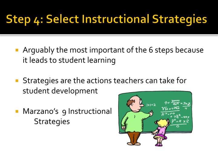 Step 4: Select Instructional Strategies