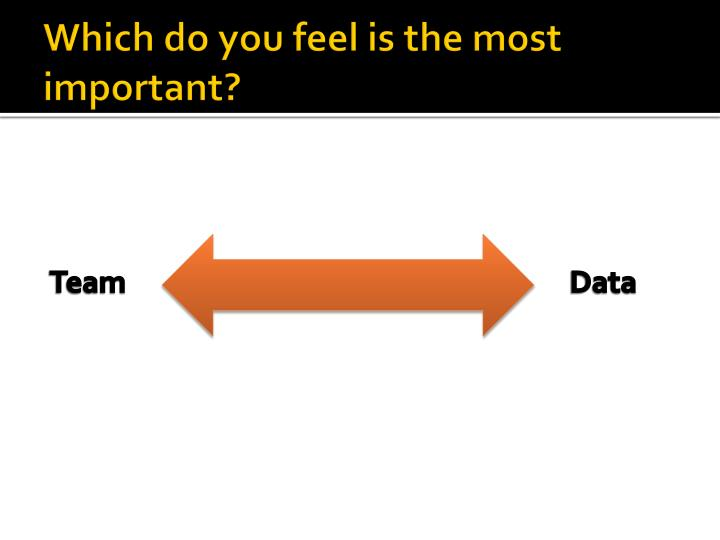 Which do you feel is the most important?