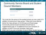 community service board and student council members