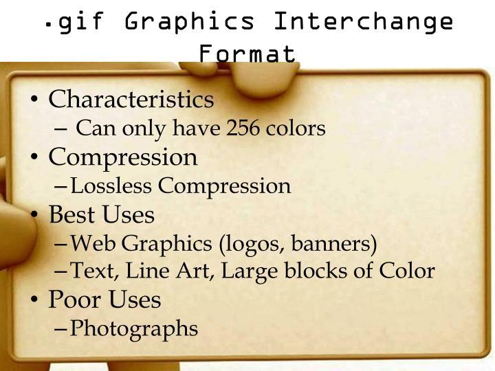 .gif Graphics Interchange Format