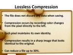 lossless compression