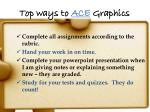 top ways to ace graphics
