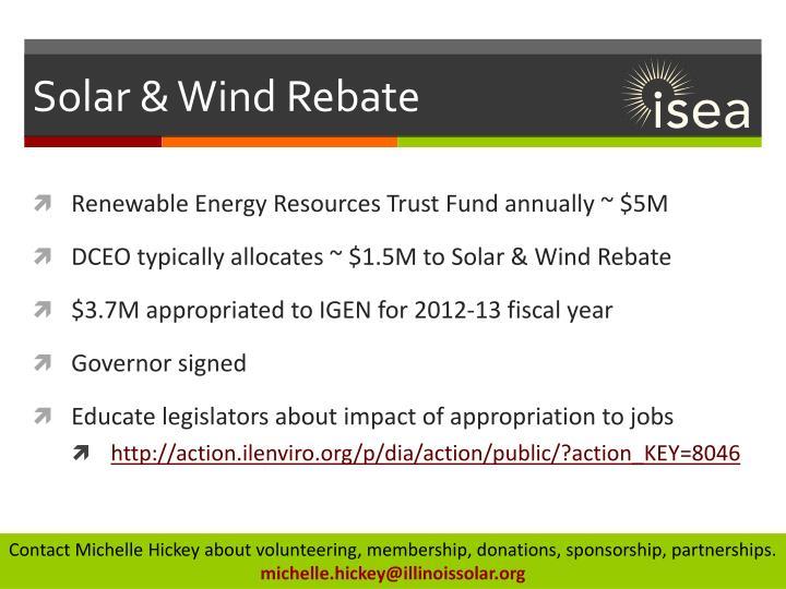 Solar & Wind Rebate