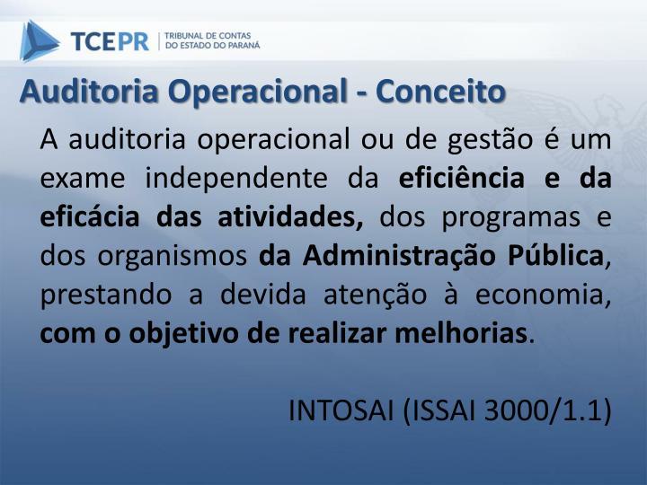 Auditoria Operacional - Conceito