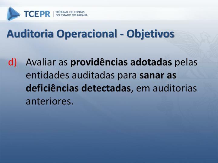 Auditoria Operacional - Objetivos