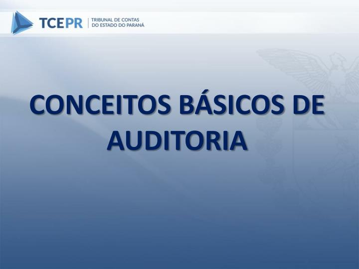 CONCEITOS BÁSICOS DE AUDITORIA
