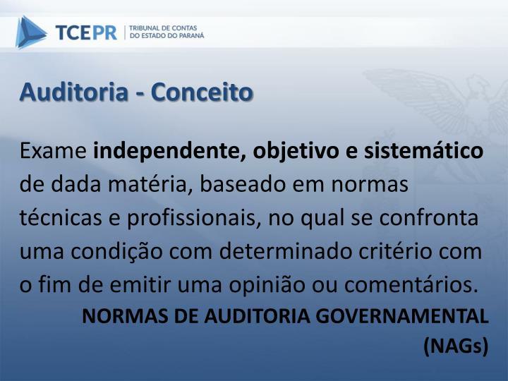 Auditoria - Conceito