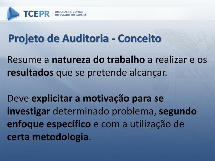 Projeto de Auditoria - Conceito