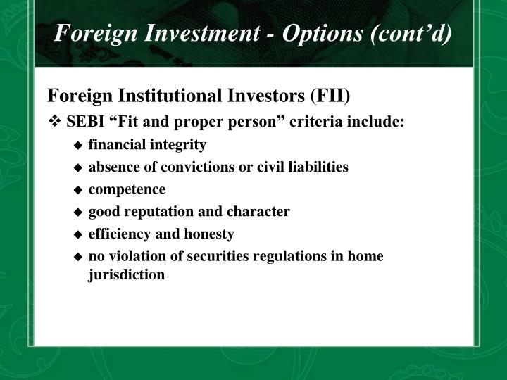 Stock options in foreign company