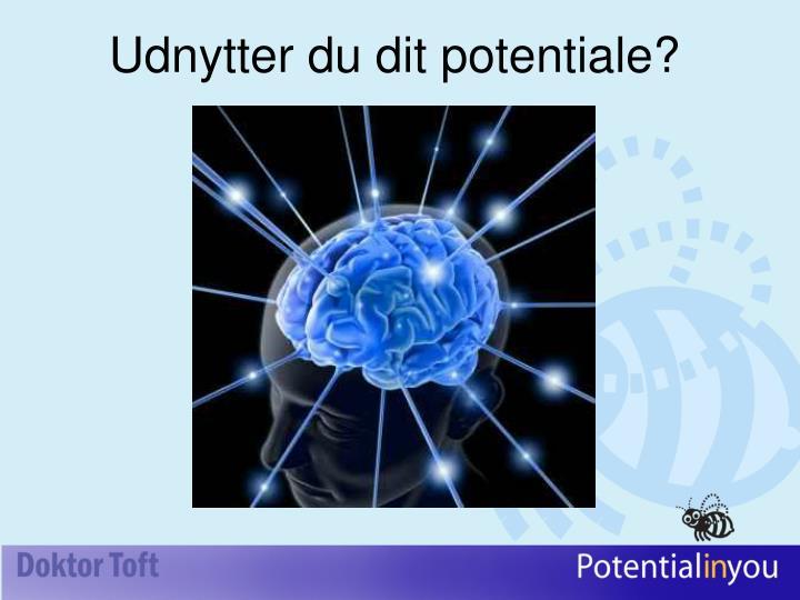 Udnytter du dit potentiale?