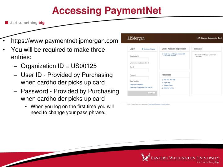 Accessing PaymentNet