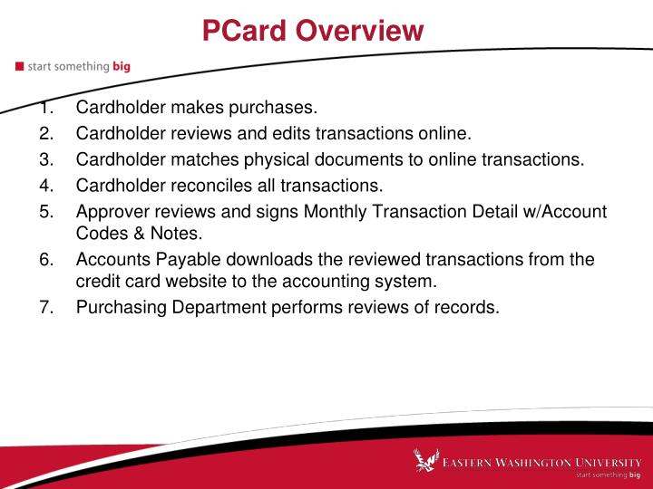 PCard Overview