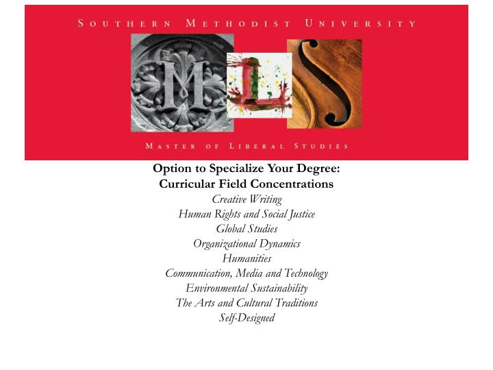 Option to Specialize Your Degree: