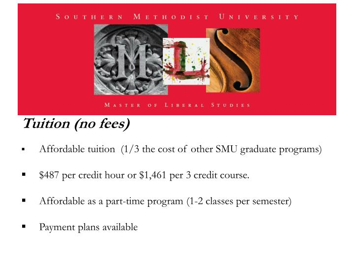Tuition (no fees)