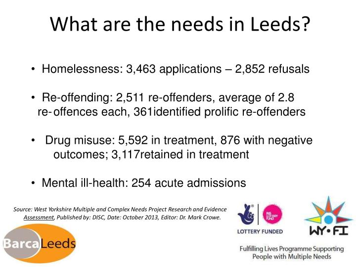 What are the needs in Leeds?