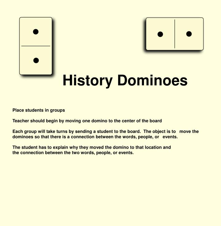 History Dominoes