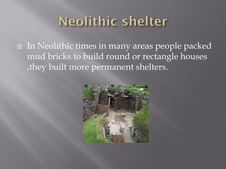 Neolithic shelter
