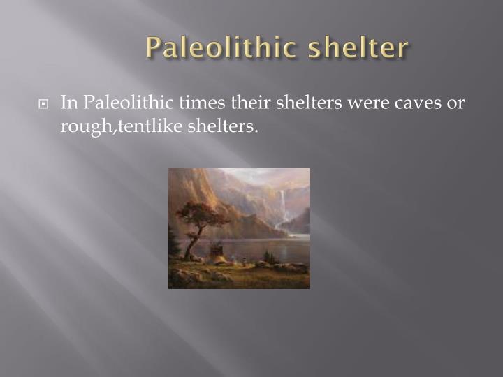 Paleolithic shelter