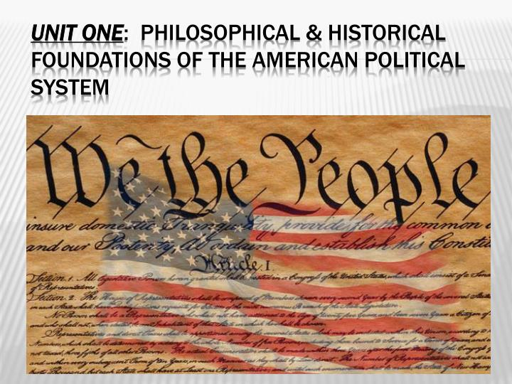 philosophical and historical foundations of american